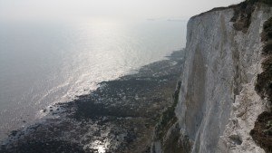 The beautiful white cliffs of dover.