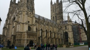 The Canterbury Cathedral, which was built in 597 and is the oldest church in England.